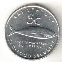 Намибия 5 цент 2000 ФАО