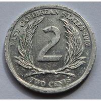 Восточные Карибы 2 цента, 2002 г.