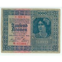 Австрия, 1000 крон 1922 год.
