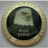 """Либерия. 5 долларов 2000 год KM#805  """"Дикая природа Северной Америки"""""""
