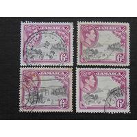 Английская Ямайка 1938 г. король Георг VI. Флора.
