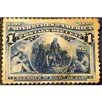 ЦІКАВІЦЬ АБМЕН! 1892, 400-годдзе адкрыццю Амерыкі, 1 цэнт, НЕГАШ!!!