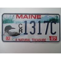 Номер автомобильный США  Maine duck