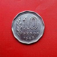 96-15 Аргентина, 10 песо 1968 г.