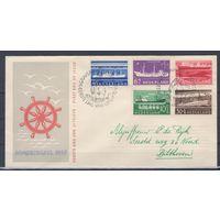 Нидерланды 1957.Конверт (КПД).Корабли.