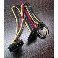 Переходник питания для видеокарт 6-pin PCI-E (Molex -> 6-pin PCI-E + Molex)