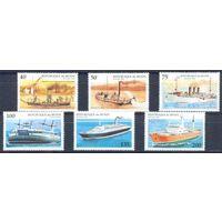 Корабли, пароходы, транспорт, флот, архитектура, марки, Бенин, 1995