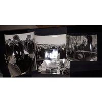 5 фото  Л.И,Брежнва и руководитеди ГДР Болгарии .Франции. ФРГ