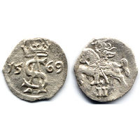 Двуденарий 1569, Жигимонт Август, Вильно