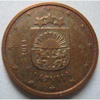 Латвия 2 евроцента 2014 г.