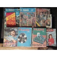Журналы Радио 1985,1987-1992 г.+путеводитель по журналу