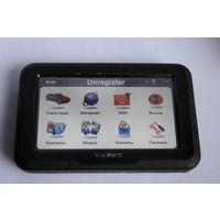 Навигатор с картой памяти на 8 гб. встроен Интернет-браузер, голосовой и текстовый каналы для мобильной связи ,TEXET  TN - 600