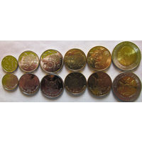 Намибия. 6 монет набор 5, 10, 50 центов, 1, 5, 10 долларов 2009 -2012 год