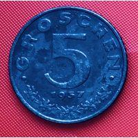 16-18 Австрия, 5 грошей 1957 г.