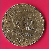 39-38 Филиппины, 5 песо 2004 г.