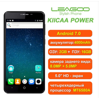 "Смартфон Leagoo KIICAA Power, MT6580A, двойная камера, 2GB/16GB, 5"" IPS 1280х720, 4000mAh, 3G"