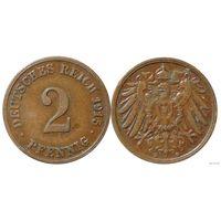 YS: Германия, Рейх, 2 пфеннига 1915D, KM# 16 (2)