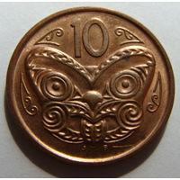 Новая Зеландия 10 центов 2006 г