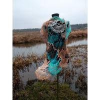 Шаль ручной вязки (ремесленник) имеются в наличии( Уточнить обязательно!) или свяжу на заказ!