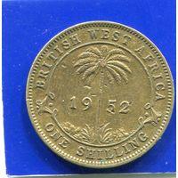 Британская Западная Африка 1 шиллинг 1952