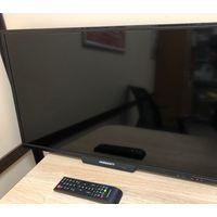 """Телевизор Horizont 42LE5219D, 42"""" 1920x1080 (Full HD), матрица LCD, динамики 20Вт, SCART, HDMI, VGA, USB, цифровой выход, гнездо для наушников, цвет черный, в пленке, витринный образец в коробке, гара"""