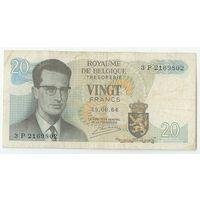 Бельгия, 20 франков 1964 год.