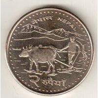 Непал 2 рупия 2009