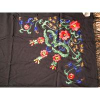 Платок   вышивка РУЧНАЯ ГЛАДЬ. 132х132 см   Дагестан кашемир