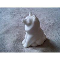 Мраморная статуэтка собаки лайки, 50-60 годы СССР
