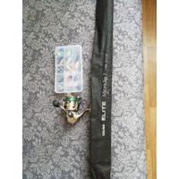 Комплект ультролайт б/у Shimano EXAGE 1000 FD + salmo elite micro jig 7+ воблерочки