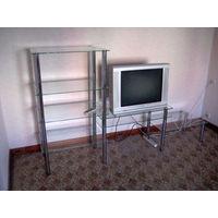 Стеклянная стенка/горка/этажерка/сек ция/стелаж/витрина под ТВ и прочее