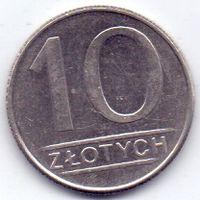 ПНР, 10 злотых 1988 года.