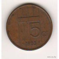 Нидерланды, 5 cents, 1983