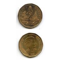 """КАНАДА """"ЗОЛОТОЙ"""" доллар 2005 БЕГУН FOX UNC"""