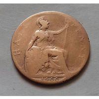 1/2 пенни, Великобритания 1900 г., королева Виктория