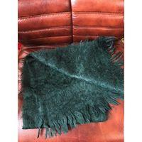 Новый мохеровый шарф Индия цвет изумруд хит 90-х размер 32 см  х 130 см