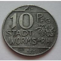 Германия. 10 пфеннигов 1918г.WORMS