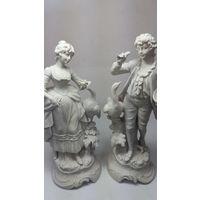 Фарфоровые статуэтки,парная композиция