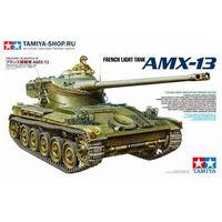 35349 TAMIYA Французский легкий танк AMX-13, с фигурой командира (1:35)