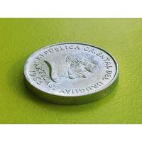 """Уругвай. 20 сентесимо 1965. Брак, раскол и мини-выкус по гуртовому ободку. Монета найдена в наборе """"Монеты и Банкноты. DeAgostini""""."""
