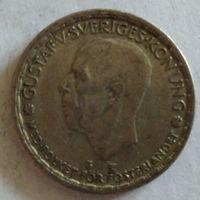 Швеция 1 крона 1948 серебро