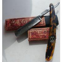 Отличная коллекционная опасная бритва, опаска Solinger Kobar Privat, Германия, период 3-го рейха, в родном футляре, трофей с войны!