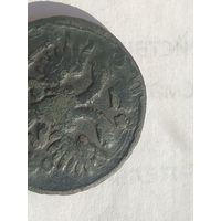 Деньга 1731 года перечекан с Петровской копейки