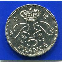Монако 5 франков 1982