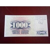 Босния и Герцоговина 1000 динаров 1992г.