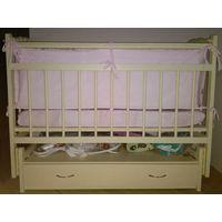 Детская кроватка-маятник Bambini массив ольхи +  подарки