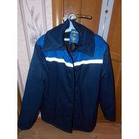 Куртка рабочая, теплая, зимняя, фуфайка с фликерами