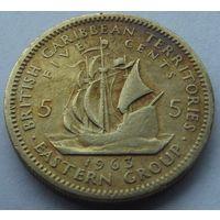 Британские восточные карибы. 5 центов 1963