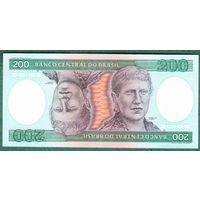 БРАЗИЛИЯ  200 крузейро  1981-84 год  UNC