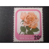 Новая Зеландия 1980 роза надпечатка